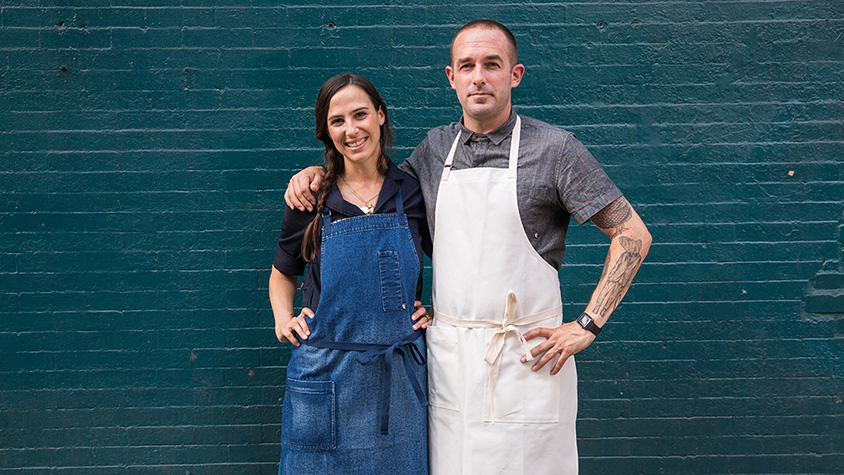 Jenny Goodman and Alex McCrery, owners of Tilit Chef Goods