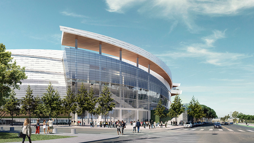 Rendering of the new Chase Center