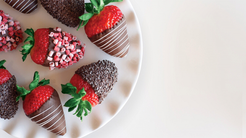 chocolate covered decorated strawberries