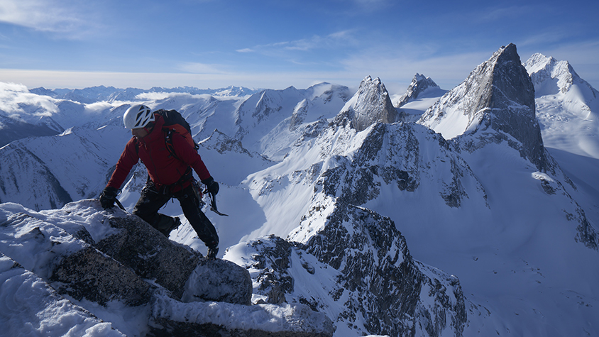 Jimmy Chin mountain climbing