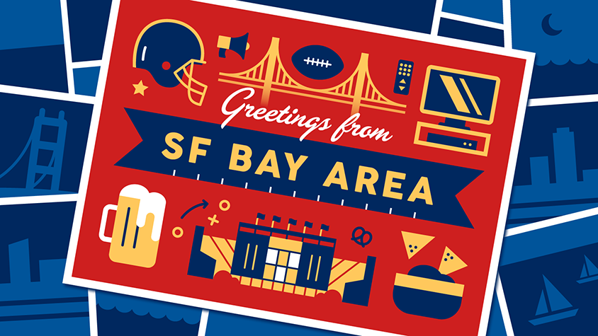 Illustration: Greetings from SF Bay Area