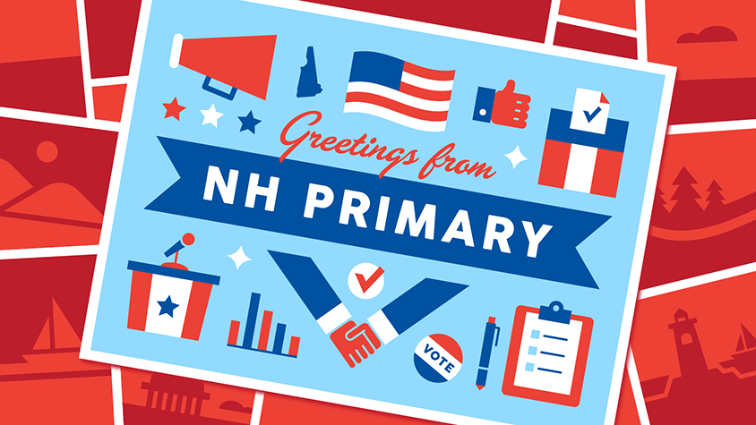 Illustration: Greetings from NH Primary