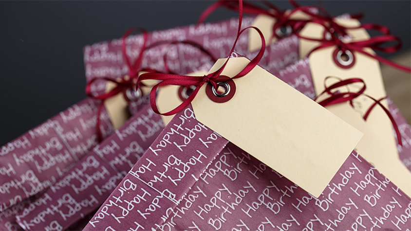 gift goody-bags with tags