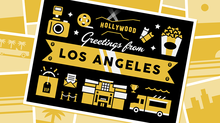 Illustration: Hollywood greetings from Los Angeles
