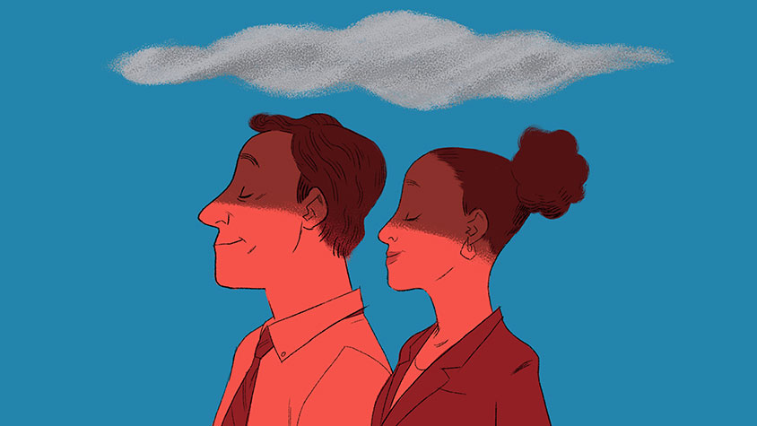 Illustration of two people