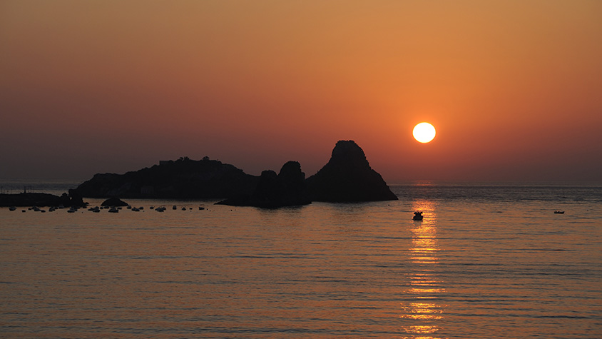sicily italy sunset