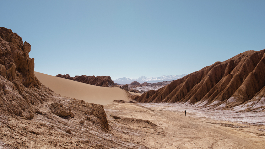 Exterior view of Atacama Desert in Chile.