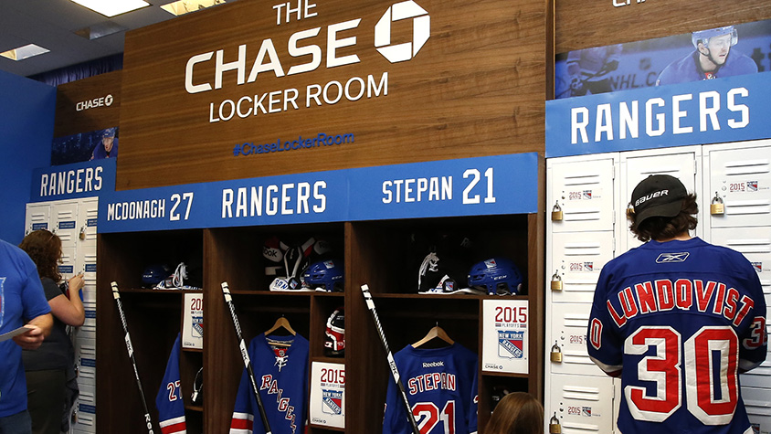 The Chase Locker Room