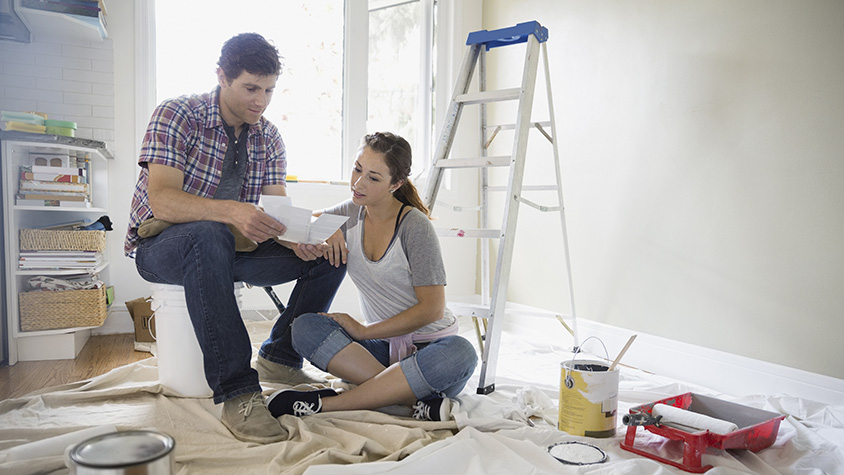 Couple renovating home