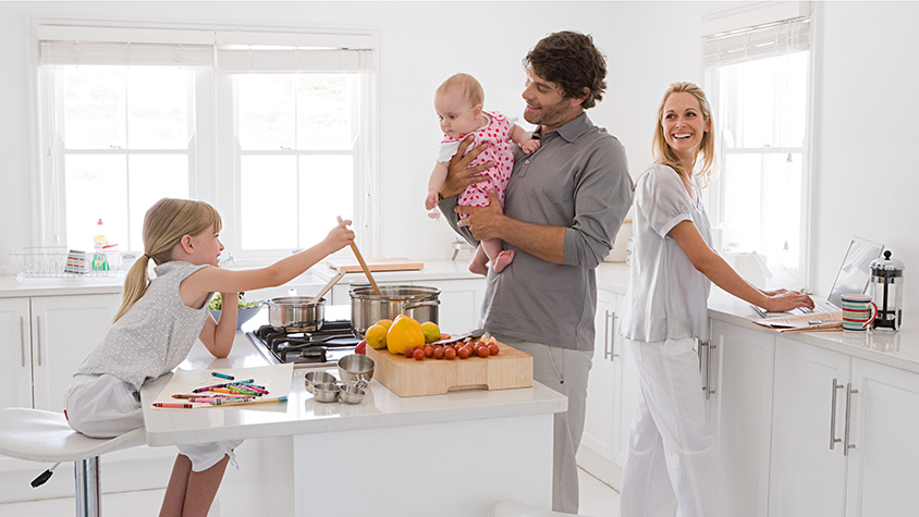 family in a kitchen - Family Kitchen