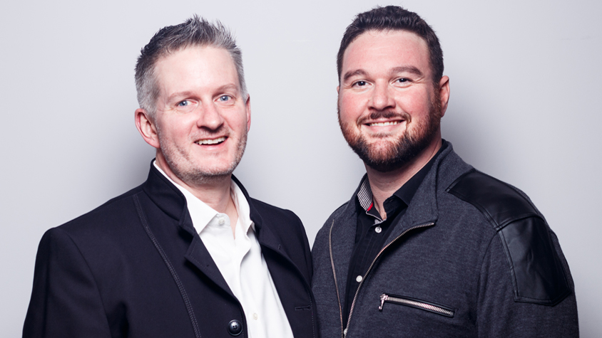 A headshot of Scott Ihrig and Shannon Morrison, founders of event company IM Creative