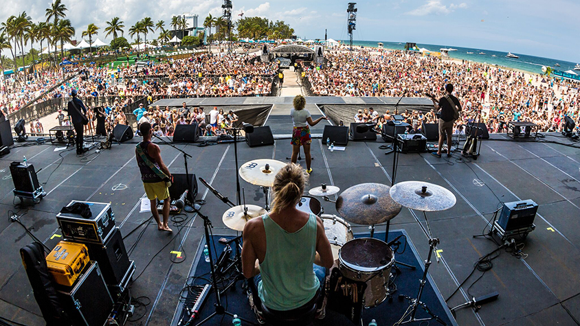Tortuga music festival stage