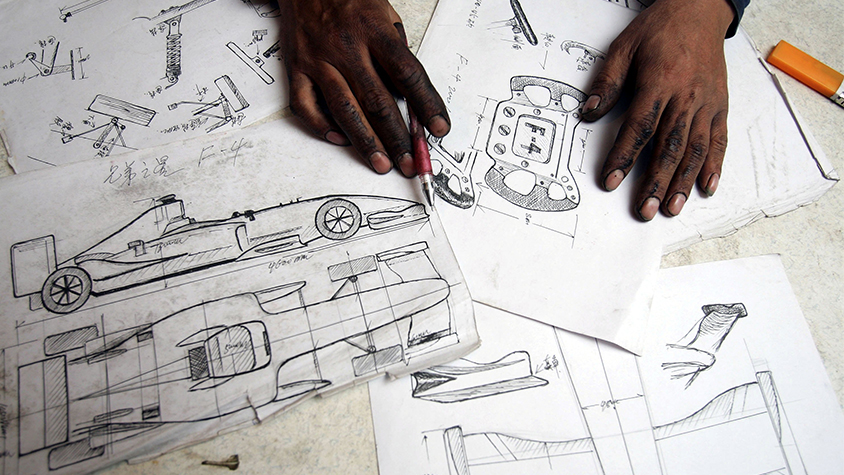 Papers with car designs