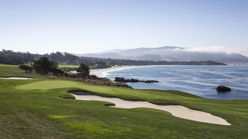 Golf course at Pebble Beach, Ca