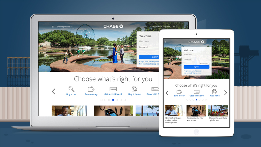 New Chase Home Page Adapting To Todays Customer