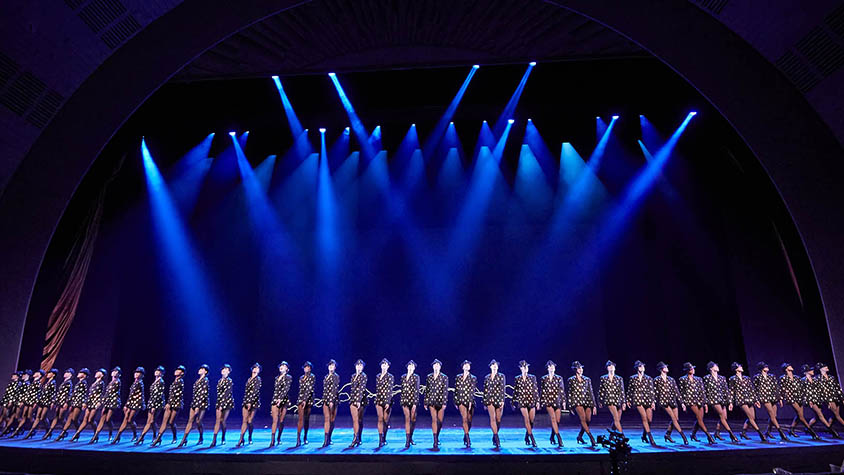 Rockettes on a stage
