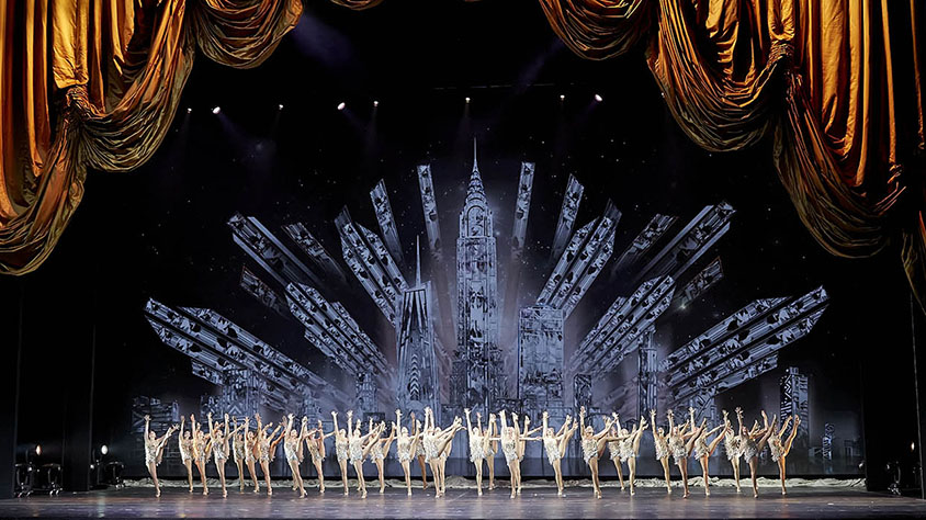 Rockettes on stage at Radio City Music Hall