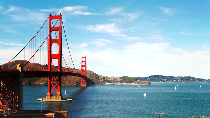 view of Golden Gate bridge at San Francisco