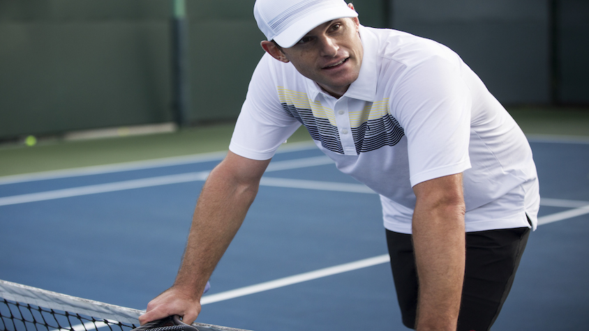 Andy Roddick on a tennis court