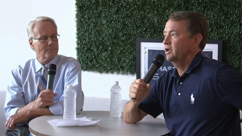 Davis Love III and Mark Rolfing