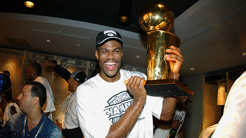 David Robinson with trophy