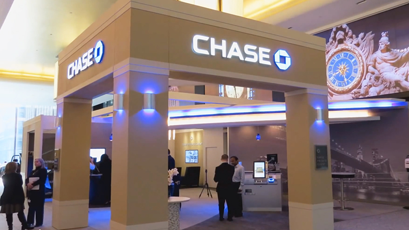 Bank Branch Of The Future High Tech Tablets And Atms