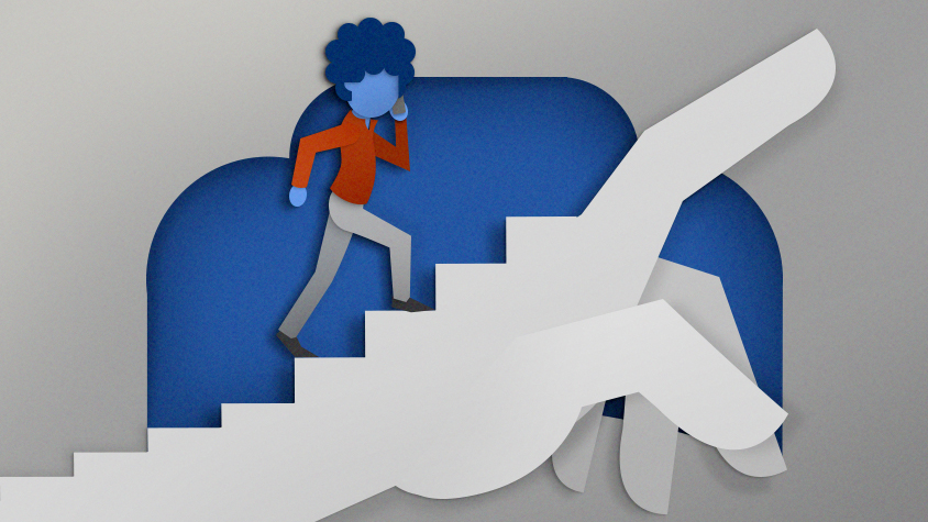 Illustration: Climbing stairs