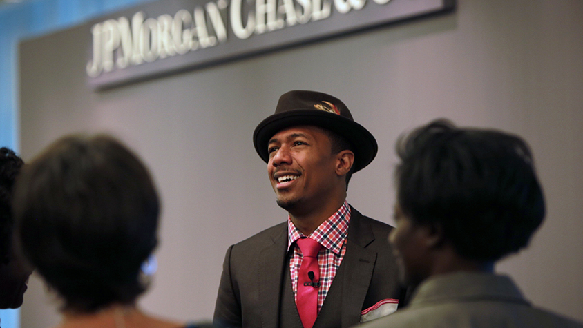 Nick Cannon at a JPMorgan Chase event